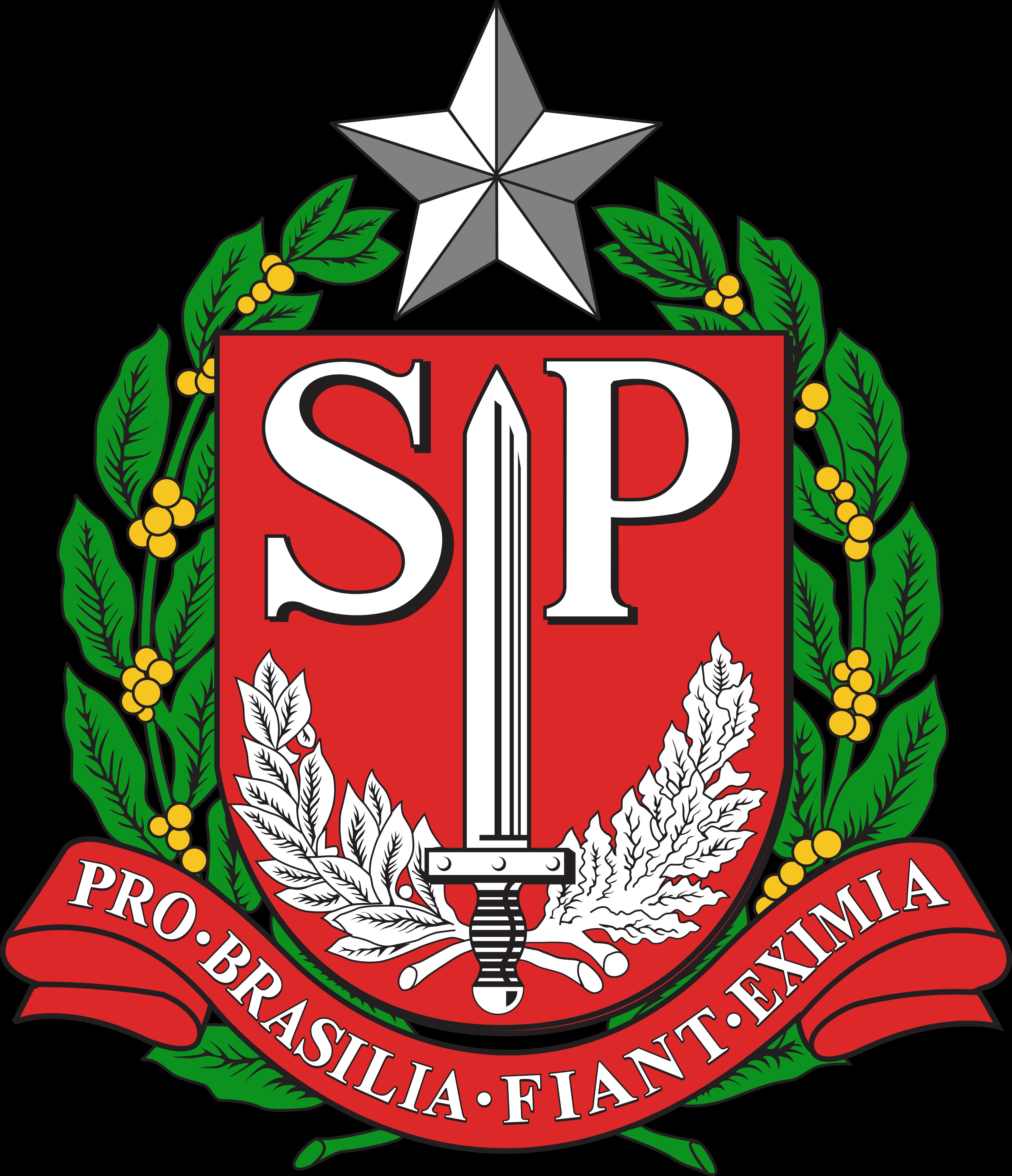 Brasão do estado de São Paulo.