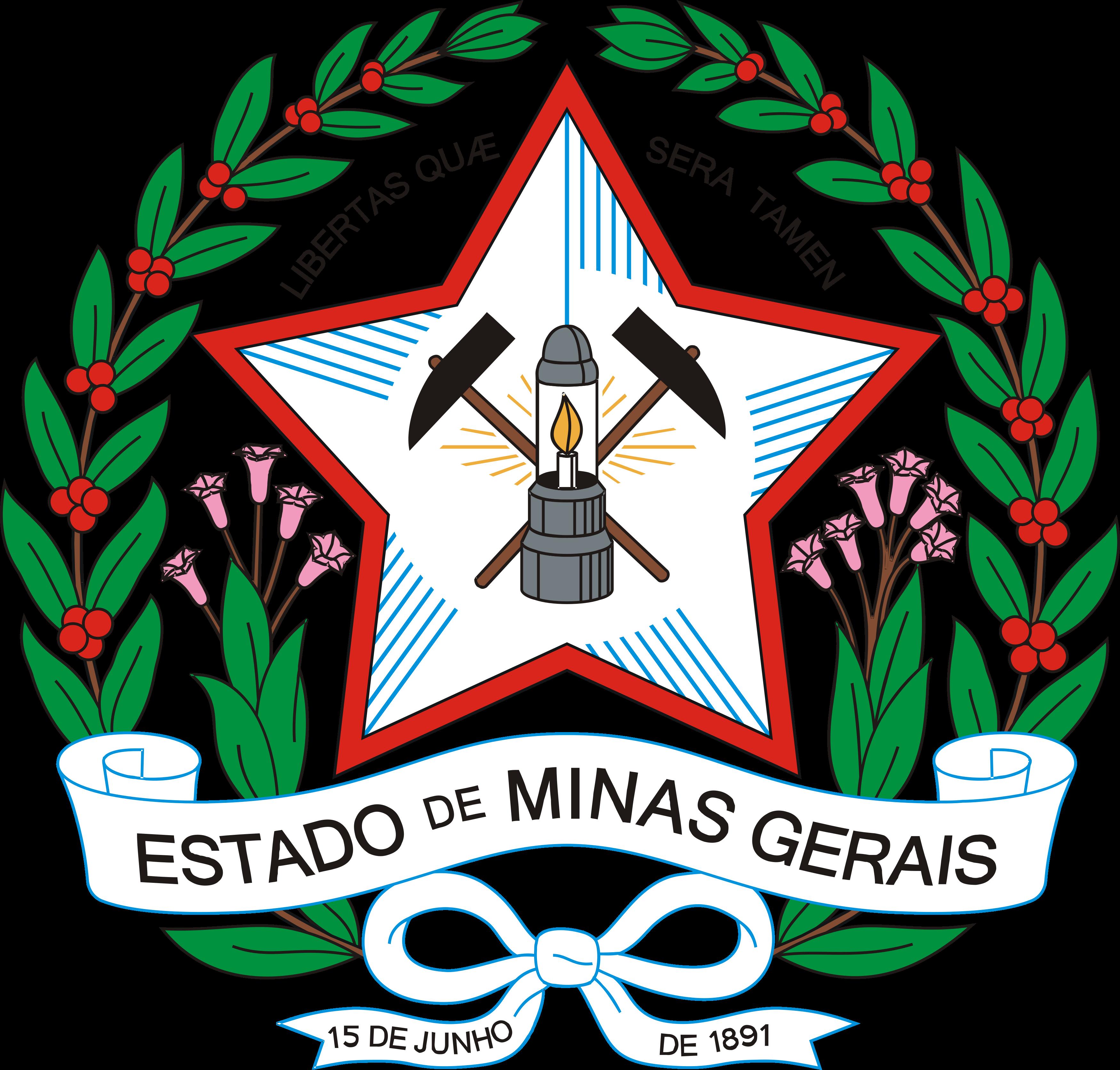 Brasão do Estado de Minas Gerais.