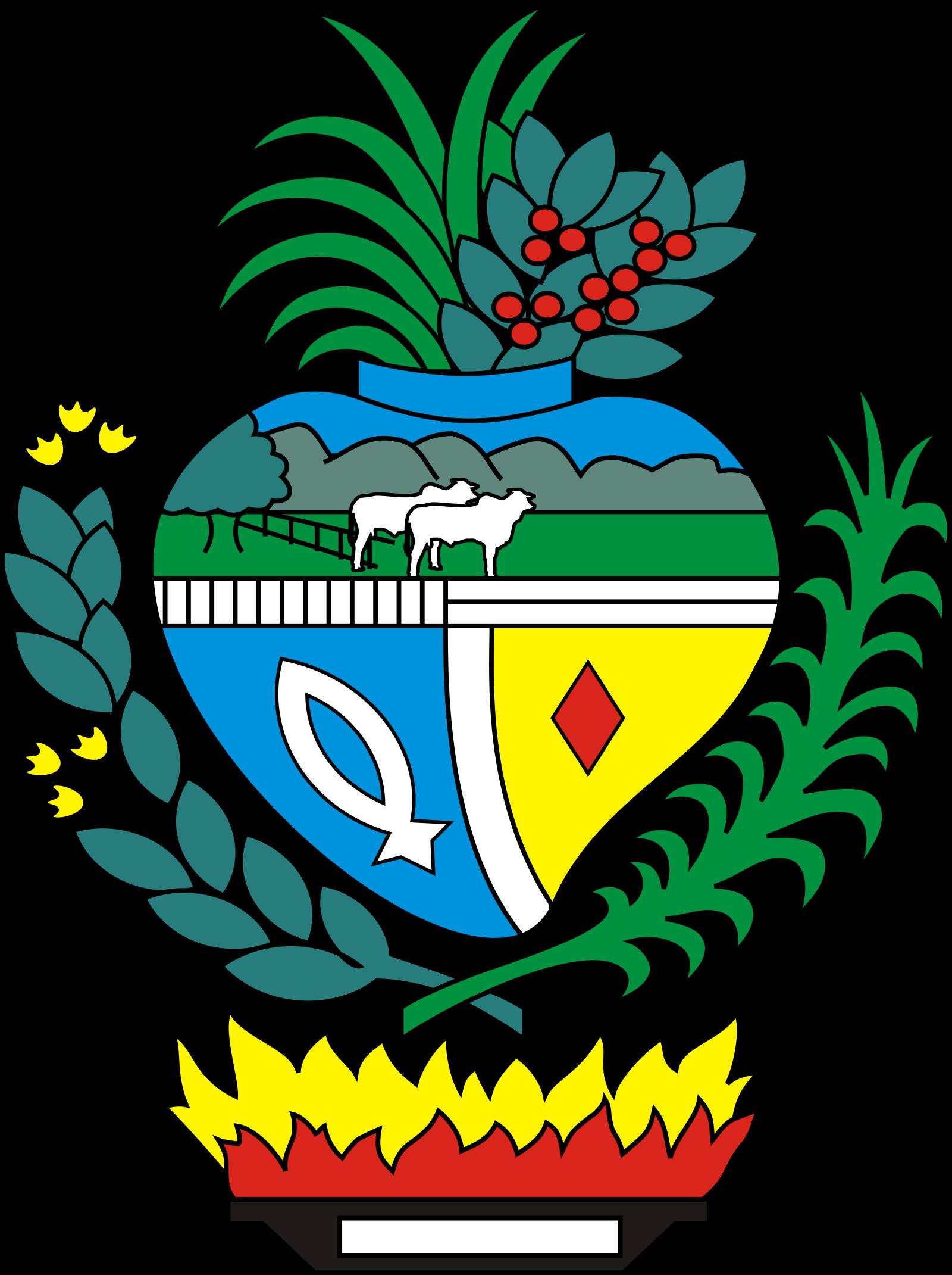 Brasão do Estado de Goiás.